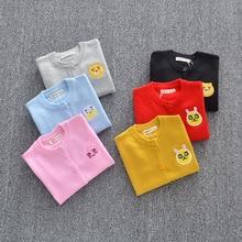 цена на Winter children clothes long sleeve round neck sweater fashion boy sweater cardigan 2019 new Kids sweaters coat baby girl coats