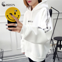 Sweatshirts Female Hoodies Plus Size Sweatshirt Hoodies Long Sleeve Hoody Autumn Hooded Sweatshirts Letter Print Pullover