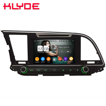 Klyde IPS 4G Android 9.0 Octa Core 4GB RAM 64GB ROM DSP BT Car DVD Multimedia Player Stereo For Hyundai Avante Elantra 2016-2019