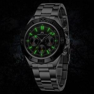 Image 4 - MEGALITH Männer Voller Stahl Uhr Sport Wasserdichte Uhr Männer Leucht Chronograph Uhren Marke Luxus Uhr Relogio Masculino 8206
