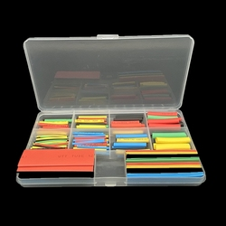 127 164/box Heat Shrink Sleeving Tube Assortment Kit Electrical Connection Electrical Wire Wrap Cable Waterproof Shrinkage 2:1