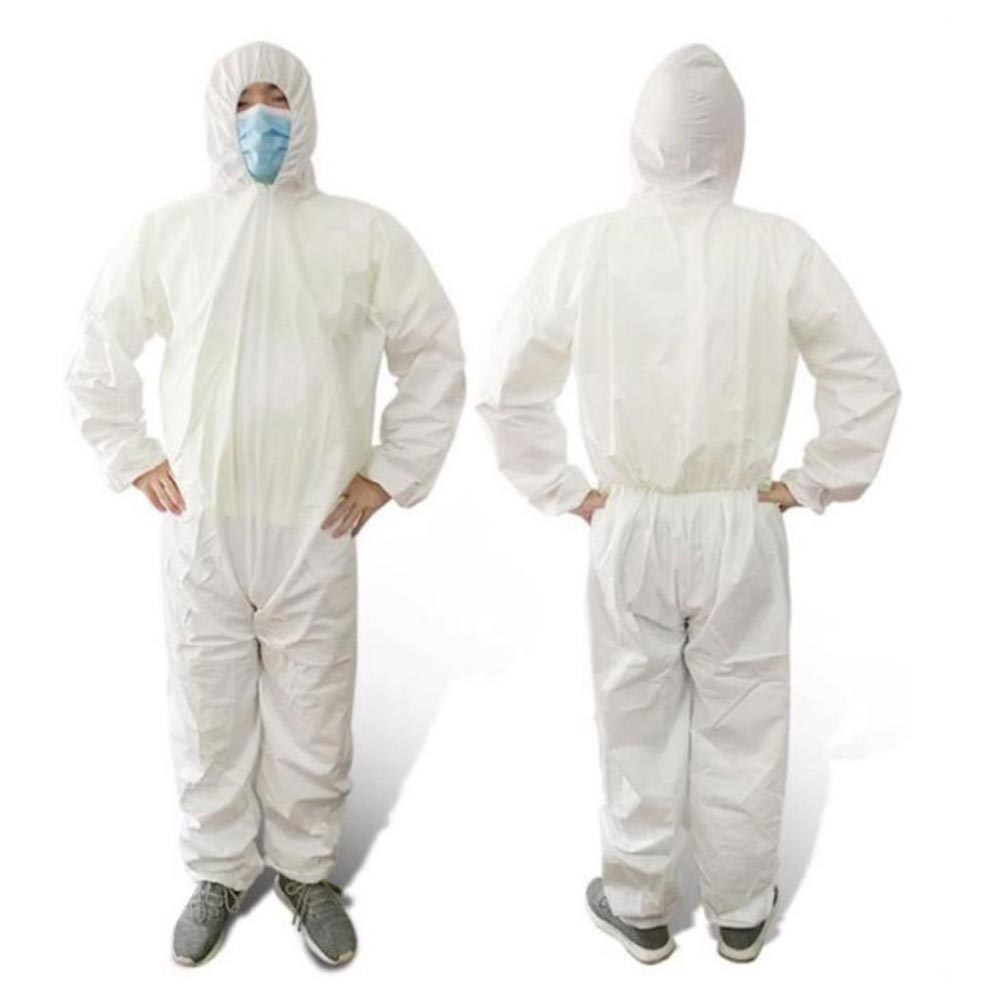 Disposable protective suit Coverall Hazmat Suit Protection Protective Anti-Virus Clothing Factory Hospital Safety Clothing