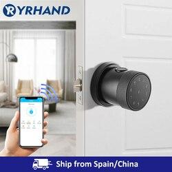 Smart Lock Fingerprint Biometrische Türschloss Keyless Touchscreen Tastatur Karte Elektronische Digitale Türschloss mit TT schloss app