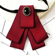 High-end Handmade Men's Necktie British Style Fabric Bow Ties Suit White Shirt Collar Bowtie for Men Wedding Accessories