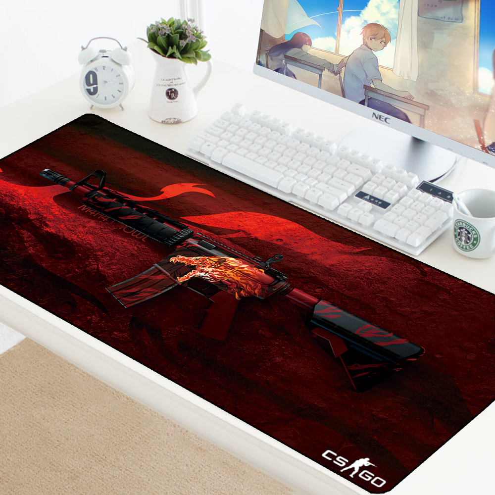 CS GO Custom Large Mouse Pad Speed Keyboards Mat Rubber Gaming Mousepad Desk Mat For Game Player Desktop PC Computer Laptop Csgo