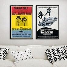 Los Hermanos Blues 1980 Retro Vintage película de Banda de Música arte pintura lienzo seda cartel de decoración de pared de Casa картины на стену