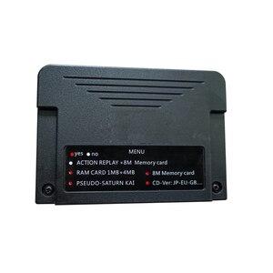 Image 5 - Nieuwe All In 1 Voor Sega Saturn Ss Cartriage Action Replay Kaart Met Direct Lezen 4M gaspedaal Functie 8Mb Geheugen