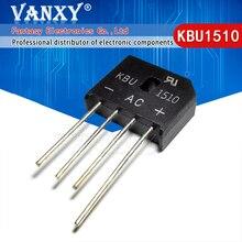 5PCS  KBU1510 KBU 1510 15A 1000V diode bridge rectifier new and original IC