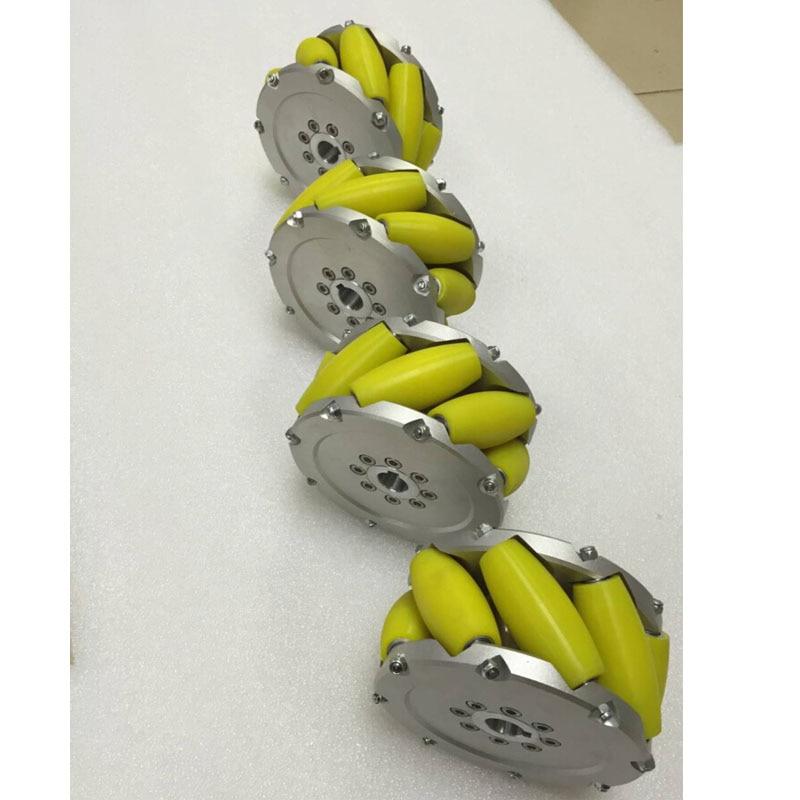 4pcs 300KG Heavy Duty 5inch 127mm Mecanum Wheel 45 Degree Universal Robot Tires for Robocon Robocup Contest Heavy Duty DIY Parts