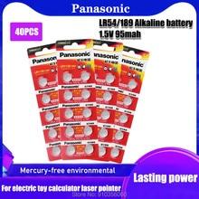 40 baterias alcalinas sr54 1.55 da moeda da pilha de 389 lr54 para brinquedos do relógio bateria lr1130 189 sr1130 389 do botão de panasonic ag10 dos pces v