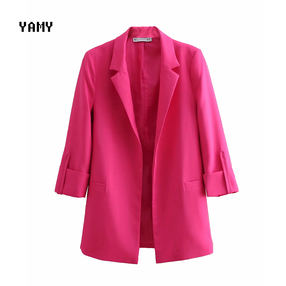 New Womens Casual Blazer Zoravicky Office Lady Suit Blazer Coat Open Stitch Summer Solid Blaser Outerwear Pocket Blazer Mujer