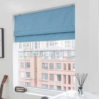 Blackout roman blind curtain For living room japan style Faux linen roman blinds for Bedroom window Customized