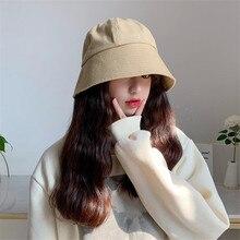 New Unisex Cotton Bucket Hats Women Summer Sunscreen Caps So