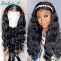 Rosabeauty парики из человеческих волос на фронте, перуанские волнистые волосы 28 30 дюймов, 360 фронтальный парик для черных женщин, предварительно...