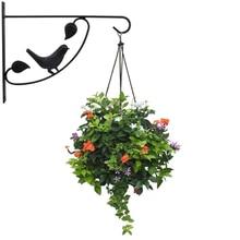 European Style Wall Hanging Flowerpot Bracket Iron Flower Stand Balcony Home Decoration Iron Plants Pots Bracket Flower Hook стоимость