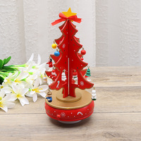 Creative Solid Wood Music Box Ornament Crafts Gift Children's Gift Music Christmas Tree Wholesale