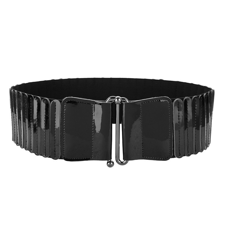 2020 New Design Spring All-match Fashion PU Elastic Belts For Women Solid Stylish Belt Trendy Corset Belt Female Waistband ZK777