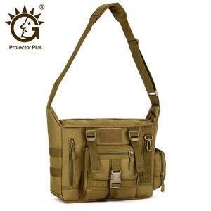 Image 1 - Tactical Sling Shoulder Bag Mens Waterproof Sport Military Crossbody Bag Outdoor Travel Molle Messenger Bag For 14 Laptop