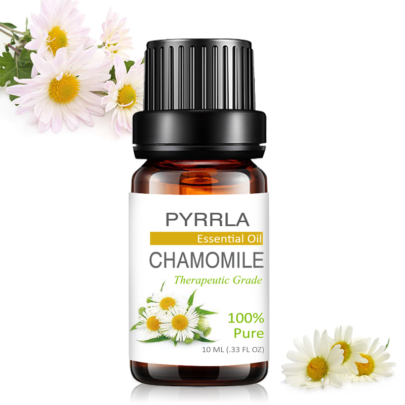 Pyrrla 10ml Chamomile Pure Essential Oils For Aromatherapy Calmness Help Sleep Humidifier Diffuser Massage Body Essential Oil