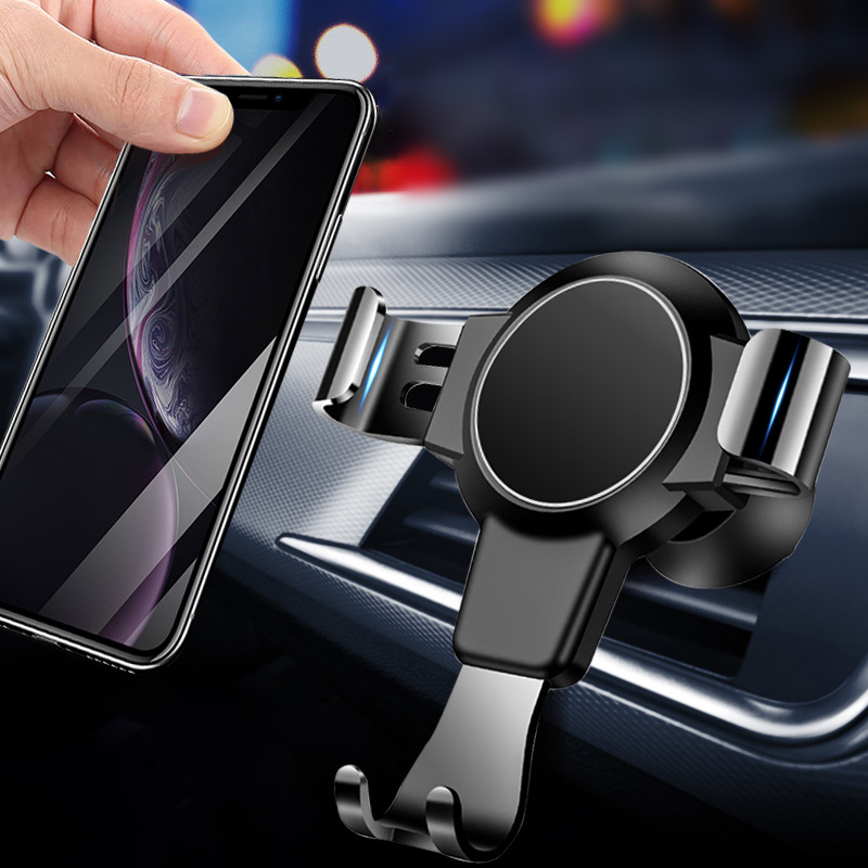 Haissky Gravity Car Phone Holder For IPhone Samsung Universal Mount Holder For Phone In Car Cell Mobile Phone Holder Stand
