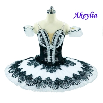 Professional Ballet Tutu Adult Black White Nutcracker Dress Pancake Performance Harlequin  Red