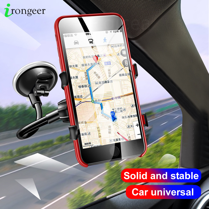 360 Degree Rotation Phone Car Holder Flexible Car Mount Mobile Phone Holder For IPhone X Smartphone Car Phone Holder Support GPS