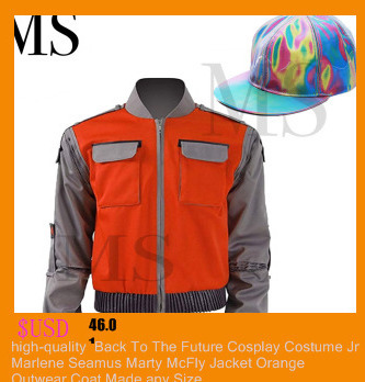 Back To Future Marty Mcfly Jacket Cosplay Costumes Adult Coat Halloween Outwear
