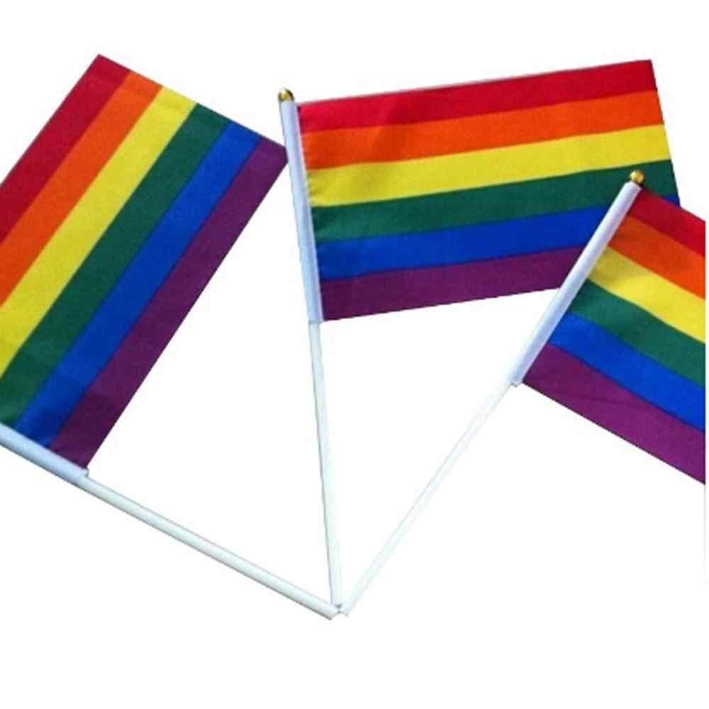 Bannière de vacances drapeau arc-en-ciel 6 couleurs bannière drapeau homosexuel ride drapeau Gay Gay Parade drapeaux banderoles drapeau coloré vacances drapeau