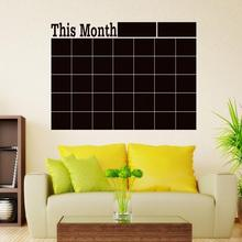 Monthly Planner Chalkboard Chalk Blackboard Wall Sticker Decor Month Plan Calendar DIY