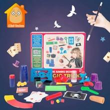 Funny Junior Magic Tricks Set Kids Novelty Magic Joke Beginner Performing Props Kit Teaching Skill Toys For Children Boy Girl
