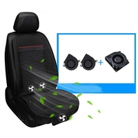 Summer Fan Cool Seat Cushion 3 Fans Single Cold Pad 12V Cooling Pad for Car Cushions Cool Down Ventilated Seat Cushion