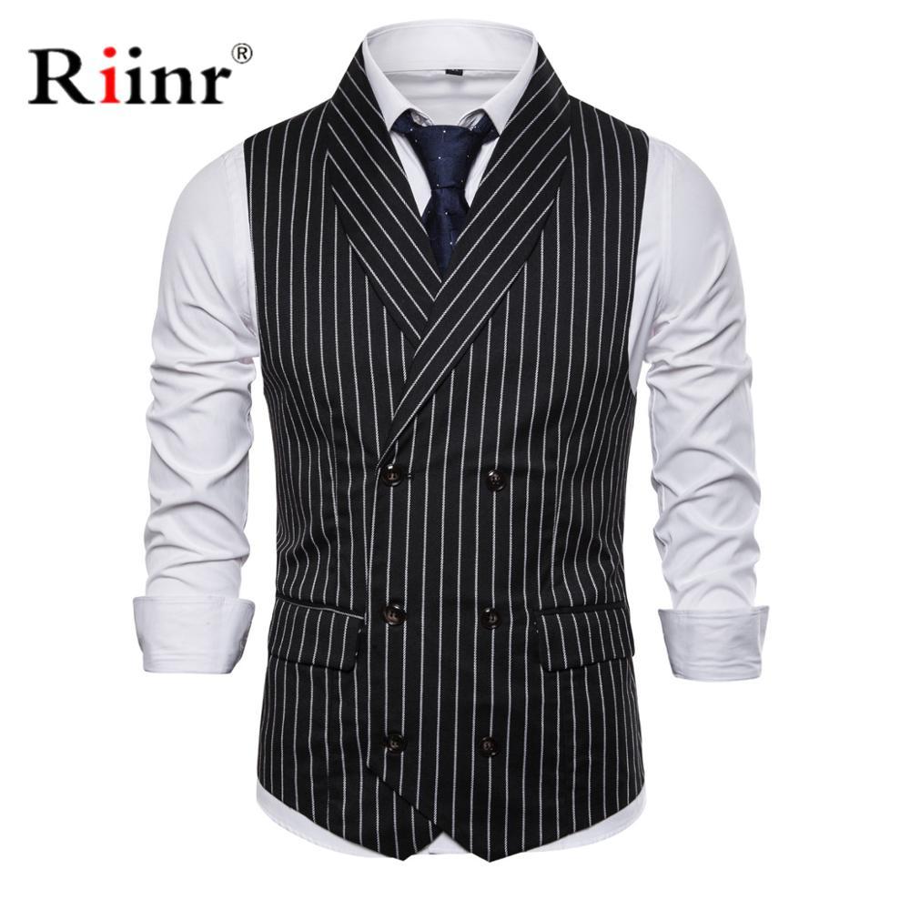British Style Vest Men Slim Fit Business Mens Dress Vests 2019 New Arrival Herringbone Wedding Suit Male Waistcoat Gilet Homme