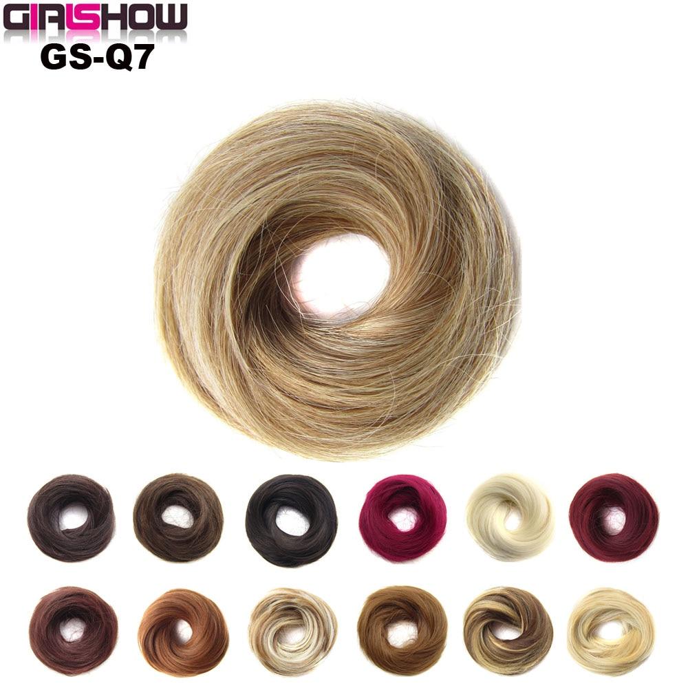 GIRLSHOW дамы эластичный прямой синтетический шиньон резинка для волос обертка для волос булочка обертывание пончик-шиньон аксессуары Q7