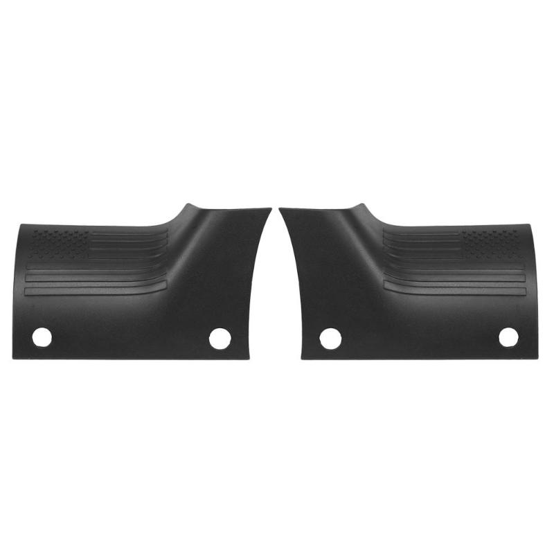 Car Accessories 1 Pair Side Cowl Covers ABS Body Armor Guard Protector for Jeep Wrangler JL 2018-2019 Black