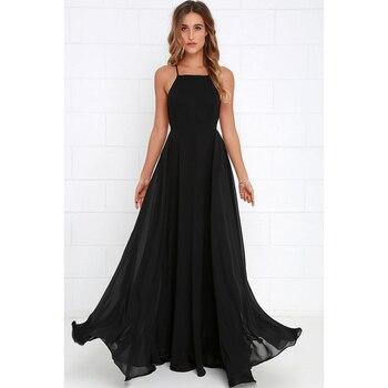 Women Plus Size Party Strap Fashion Bahemian Beach Chiffon Backless Dress Sexy Sleeveless Off The Shouder Maxi Dresses New 2020 6