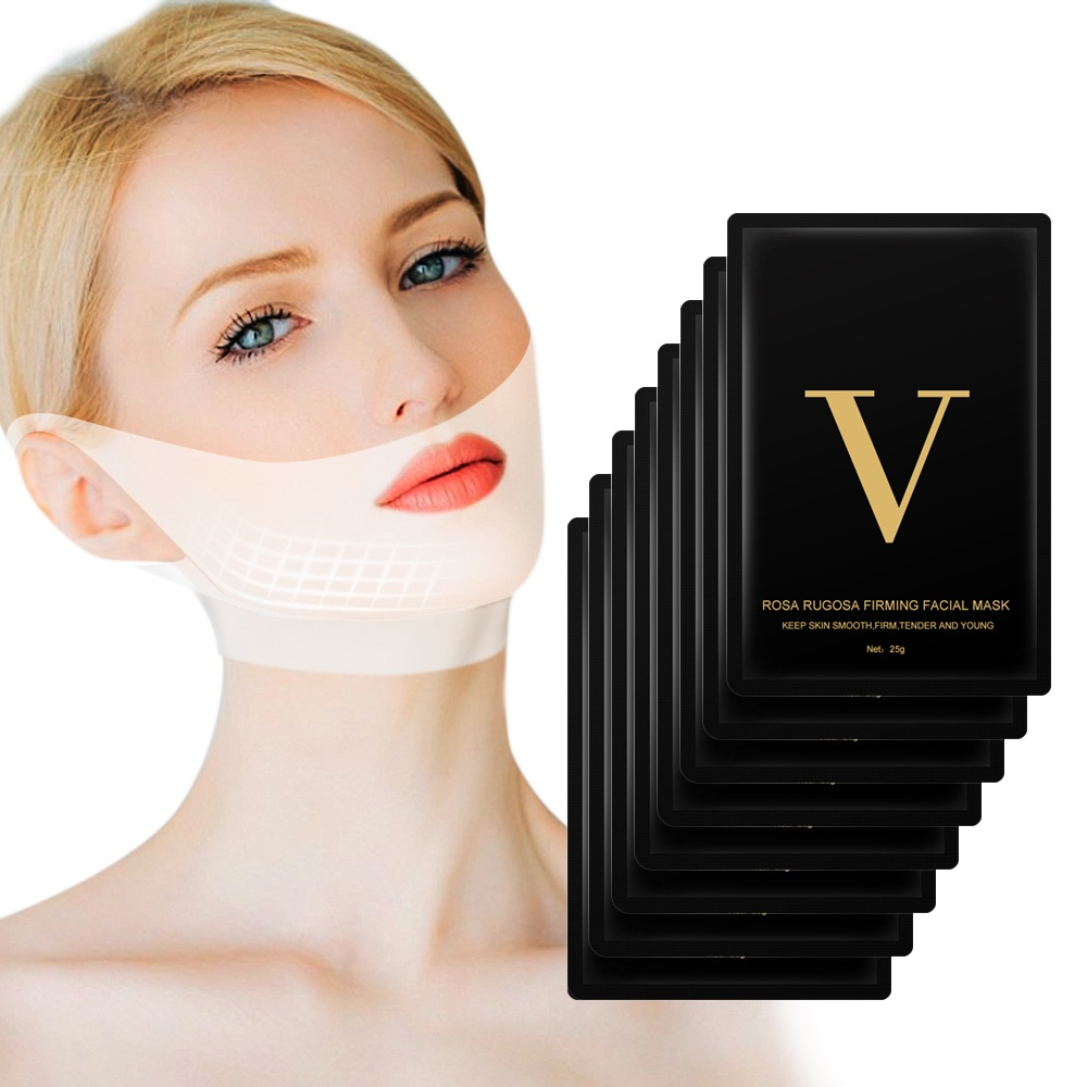 Hot Drop Ship VIP Link 4D Double V Lifting Masks Collagen Hydrogel Mask Slimming Mask Face Firming Double Chin Lifting Masks