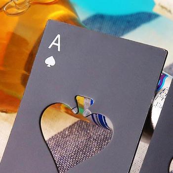 1 pieza de juego de cartas de póquer con estilo Popular, herramienta de barra Ace Of Spades, botella para gaseosa o cerveza, tapa, herramientas de cocina, Gadget, abridor caliente, regalo