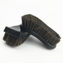 Car Cleaning Brush More Dense Pure Horsehair Brush Car Wash Tool for Car Steering Wheel Center Console Car Seat Car Cleaning