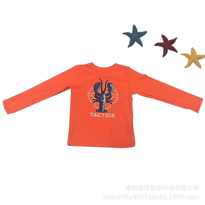 2019 BOY'S Surfing Suit Hot Sales New Style Crab Surf Wear Sun-resistant Fen Ti Fu Swimsuit For Boys