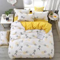 Svetanya INS ananas frutta lenzuola morbide stampa Set biancheria da letto in poliestere microfibra (federa copripiumino)