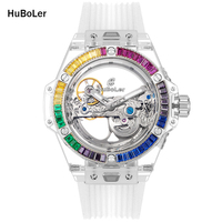 Luxury Watch Women Automatic Mechanical Watches Women Acrylic Diamond Watch Ins Gifts for Women reloj automatico mujer 2020|Relógios femininos|   -