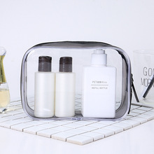 Transparent PVC Cosmetic Bag Waterproof Travel Wash Sewing Zipper Stereo Portable Women