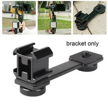 For Zhiyun Smooth Q2 4 Accessories Triple Hot Shoe Mount Microphone Adapter Light Bracket for DJI Osmo Mobile 3 2 Osmo Pocket