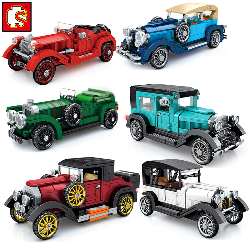 Super Race Car Old Classic City F1 Speed Champions Great Vehicle Racing  Model Building Sports Kits Sets Sembo Blocks