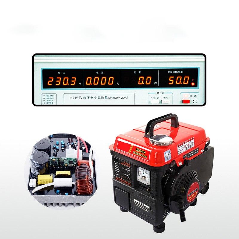 Gasoline Generator Household Small Single phase Generator Gasoline Variable Frequency Generator 220V NH1000 Gasoline Generators  - AliExpress
