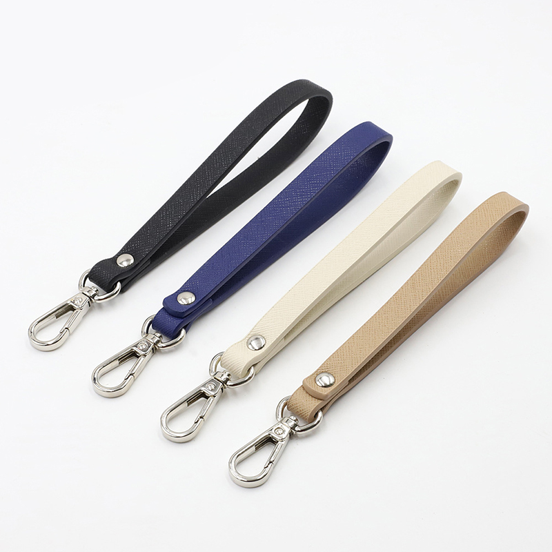 1PC 2020 New  PU Leather Wristlet Bag Strap O Bag Handles DIY Purse Rep[placement Handbag Handles For Clutch Purse Wrist Strap