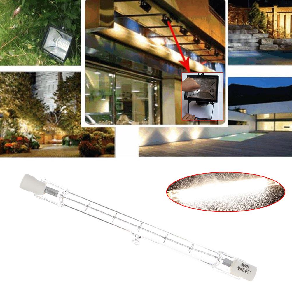 Вольфрам-йод лампы галогенные лампы энергосберегающие лампы Яркий прочный эко-Стекло 220 V-240 V 100W бытовой питания