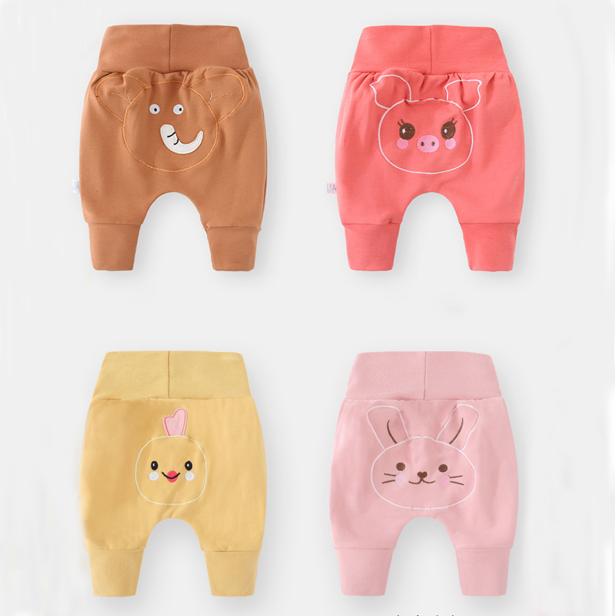 Luna Blanco Baby Girl 3-24 Month PP Pants Cotton Loose Newborn Pants Baby Girl Winter Clothes  Elastic Waist Kids Casual Pant