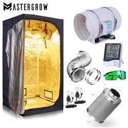 Kit de salle de tente de culture (pas de lumière Led dans ce Kit!) système de culture hydroponique + filtre à charbon 4 / 6/ 8
