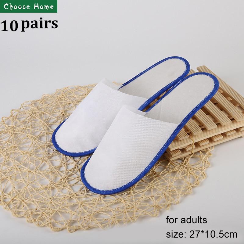 Hotel Slippers For Children Men Women  Non Woven Disposable Slippers Closed Toe Cheap Travel Slipper